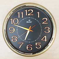 Đồng hồ Eastar Tròn Cổ điển có Dạ quang (*) - Máy Kim trôi chạy Êm ái (Mặt Số màu Đen)