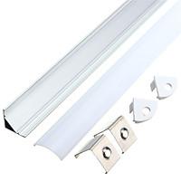 50cm V-Style Aluminium Channel Holder Cover For LED Strip Light Bar Under Cabinet Lamp Type V