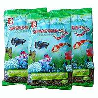 Bộ 3 gói thức ăn nổi cho các loại cá kiểng, cá koi, cá chép coi loại 100gr/gói ( Nâu)