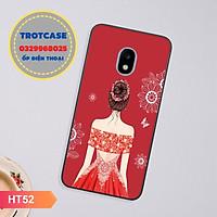 Ốp lưng dành cho Samsung J2 Pro/J3 Pro/J5 Pro/J7 Pro - in hình cô gái mặc váy nhiều màu và cô bé happy lucky đẹp