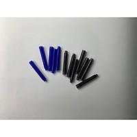 set 10 ống mực xoá được, ống mực thay thế bút máy( sẵn xanh)