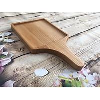 Khay gỗ tần bì hình vuông có tay cầm, khay gỗ decor