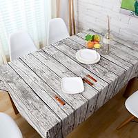 Khăn trải bàn vải canvas họa tiết vân gỗ KB26