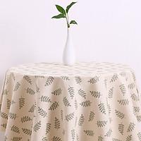 Khăn trải bàn vải bố - Họa tiết Lá xanh - mẫu B04