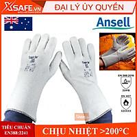Găng tay chịu nhiệt Ansell Crusader Flex 42-474 chống cháy chịu nhiệt trên 200 độ, dùng trong cơ khí, luyện kim, nhà bếp