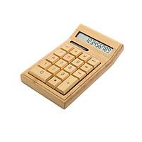 Máy tính điện tử Bamboo thân thiện với môi trường Bộ đếm Chức năng tiêu chuẩn 12 chữ số Năng lượng mặt trời & Pin kép Cấp nguồn cho Gia đình