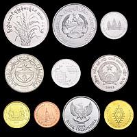 Bộ 10 xu của 10 nước Đông Nam Á Sưu Tầm TMT COLLECTION Còn Mới FAFADS3434