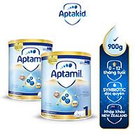 Combo 2 Sữa bột Aptamil New Zealand hộp thiếc số 1 (900g/lon) cho bé 0-12 tháng tuổi