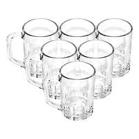 Bộ ly 6 cái Union Glass 372 Ly quai 325 ml  không ngã màu,  sản xuất Thái Lan