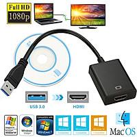 Cáp chuyển đổi tín hiệu âm thanh hình ảnh từ đầu USB 3.0 sang HDMI 1080P cho PC/Laptop/HDTV/TV