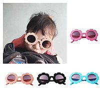 4 Pieces Kids Cute Vintage Flower Sunglasses UV400 Outdoor For Girls Boys