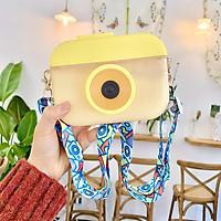 Bình nước hình máy ảnh cực cute 400ml có dây đeo xinh xắn