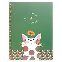 Sổ Lò Xo Design - Oxford - A5 80'S #9 Cat (PP+AB+CB) - ASN40809 - Màu Xanh Lá