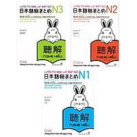 Combo Luyện Thi Năng Lực Nhật Ngữ : Luyện Thi Năng Lực Nhật Ngữ N1 + Luyện Thi Năng Lực Nhật Ngữ N2 + Luyện Thi Năng lực Nhật Ngữ N3 / Sách Luyện Nghe Hiểu (Tăng Bookmark Happy life)
