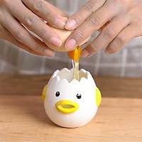 Máy tách lòng trắng trứng bằng sứ. Máy lọc lòng trắng trứng dễ thương