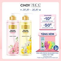 Combo sữa tắm nước hoa Cindy Bloom Aroma Flower mùi hương ngọt ngào nữ tính + Romantic Muse quyến rũ lãng mạn 640g