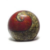 Bình hoa gốm sơn mài Bát Tràng - Lộc bình tròn gốm, Vỏ trứng, bạc, vàng trên nền sơn mài hiện đại và sang trọng - Thú chơi độc - lạ