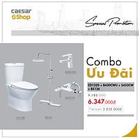 Combo sản phẩm bàn cầu+vòi lavabo+sen tắm+bộ phụ kiện tắm đứng - CD1320+B430CWU+S433CW+BS126