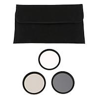 Non-brand 49mm Digital Filter Kit of UV, CPL/Circular Polarising, ND8 & Pouch