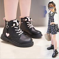 Giày Boot da cho bé gái phong cách hàn quốc (mẫu mới nhất ) - BB109