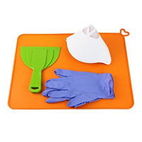 Silicone Slap Mat 410 x 310mm Clean-up or Resin Transfer Scraper Paper Funnels Gloves Protect Work Surface for DLP SLA 3D Printer Accessories Kit