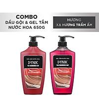 Combo tắm gội nam Dynik - Xạ hương trầm ấm 650g/chai
