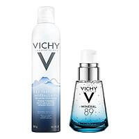 Bộ chăm sóc da Dưỡng Chất Khoáng Cô Đặc Giúp Phục Hồi Và Bảo Vệ Da Vichy Minéral 89 (30ml) + Nước Khoáng Vichy Mineralizing Water (300ml)