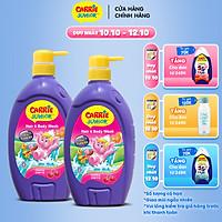 Combo 2 Sữa Tắm Gội cho bé Carrie Junior Hương Cherry (700g/chai)