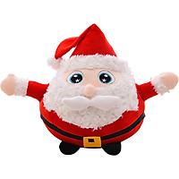 Ông già Noel bông mắt to dáng tròn - quà tặng giáng sinh thú bông
