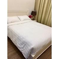 Vải sọc T300-Vỏ chăn trắng sọc 3 phân 1.6mx2m cho khách sạn