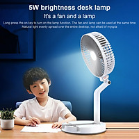 Mini Folding Fan Table Lamp Phone Holder Portable Desk Fan Wall-mounted Cooling Electirc Fan 3 Speed Adjustable USB