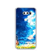 Ốp lưng dẻo cho điện thoại LG V30 - 0293 LITTLEGIRL - Hàng Chính Hãng