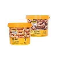 [Combo] Bộ 2 Bánh Quy Xô Chocochip + Bánh Quy Bơ No Brand Hàn Quốc 400g