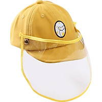 Kids Protective Face Shield Cover Hat Anti Spitting Saliva Drool Fisherman Cap with Clear Facial Cotton Fisherman Hat