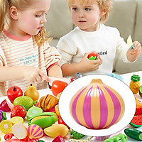 Play Food Cutting for Toddlers Kids, Plastic Pretend Role Play Toys, Kitchen Fruit / Vegetable Food Cutting Toys