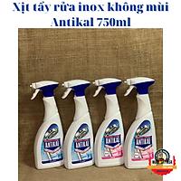 [Nhập khẩu Đức] Xịt tẩy rửa inox không mùi Antikal 750ml, Kalkreiniger, 750 ml, tẩy sạch cặn canxi trên inox: vòi hoa sen, vòi nước.