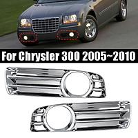 1 Pair ABS Chrome Color Front Bumper Fog Light Lamp Trim Cover For Chrysler 300 2005~2010
