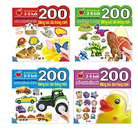 200 Miếng Bóc Dán Thông Minh - Các Loài Động Vật + Khủng Long + Đồ Chơi Của Bé + Phương Tiện Giao Thông