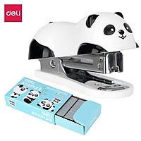 Dập Ghim Mini Hình Panda Deli, 12 Trang Kèm 1000 Chiếc Ghim - 1 Cái E0453