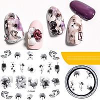 Sticker nails hoa - hình dán móng 3D 3649