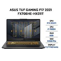 Laptop Asus TUF Gaming F17 FX706HE-HX011T (Core i7-11800H/ 8GB DDR4/ 512GB SSD/ RTX 3050Ti 4GB/ 17.3 FHD IPS, 144Hz/ Win10) - Hàng Chính Hãng