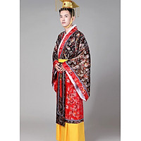 Trang Phục Vua Hoàng Đế Trung Hoa Tần Thủy Hoàng Kèm Mão Và Giày