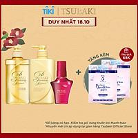 Bộ ba Tsubaki Premium Phục hồi ngăn rụng tóc & Bảo Vệ Tóc Trước Tác Hại Của Tia UV (Gội Xả 490ml/chai + Dầu dưỡng tóc 50ml)