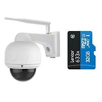 Camera IP Wifi VStarcam C32s 2.0 - Full HD 1080p không dây ngoài trời , Zoom 4X , Ghi âm thanh ,Kèm thẻ 32GB A1 Lexar  - Hàng chính hãng