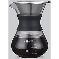 Bình pha cafe Drip Coffee 400ml kèm phễu lọc Inox