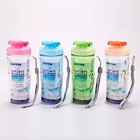 Combo 4 Bình nước Matsu nhựa Duy Tân có quai 350ml No.251 – Màu ngẫu nhiên – Chất liệu PET/PP – Phong cách Thể Thao