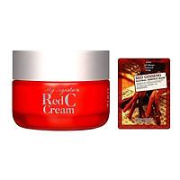 Kem Dưỡng Vitamin C Làm Trắng Da, Mờ Thâm Nám Tiam My Signature Red C Cream 50ml + Mặt nạ 3D Foodaholic