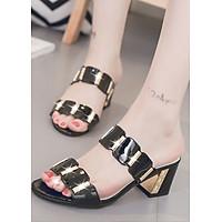 Giày dép nữ cao gót đế vuông hoặc nhọn quai ngang thời trang công sở