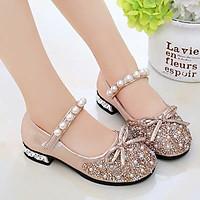 Giày búp bê bé gái 3 - 12 tuổi mặc váy công chúa đính kim sa lấp lánh siêu xinh GE91