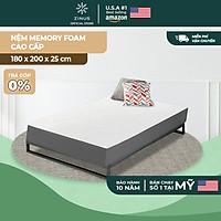 Nệm foam cuộn hút chân không cao cấp Zinus - Memory Foam Mattress 25cm